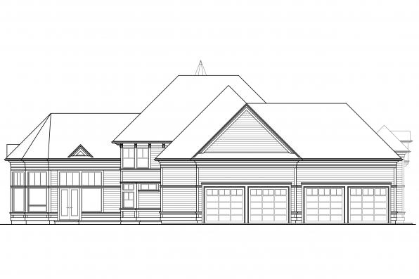 Tudor House plan - Canterbury 30-516 - Rear Elevation
