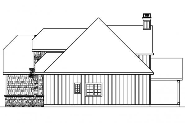 European House Plan - Wedgewood 30-629 - Right Elevation