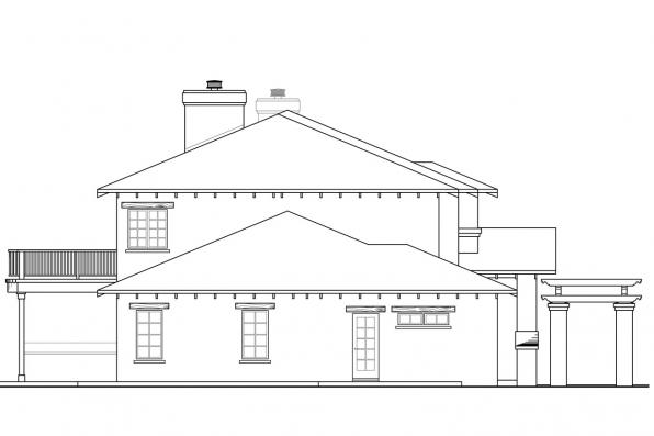 Tuscan House Plan - Vercelli 30-491 - Left Elevation
