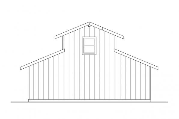 Barn Design 20-261 - Rear Elevation