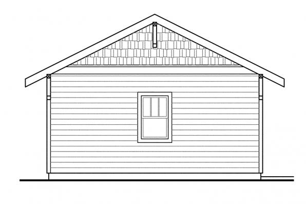 Two car Garage Plan 20-010 - Right Elevation