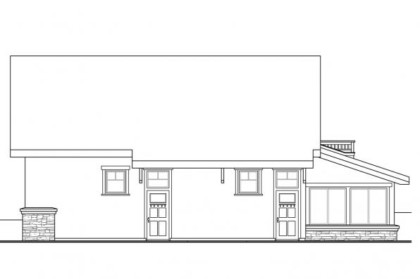 Two Car Garage Plan 20-143 - Right Elevation