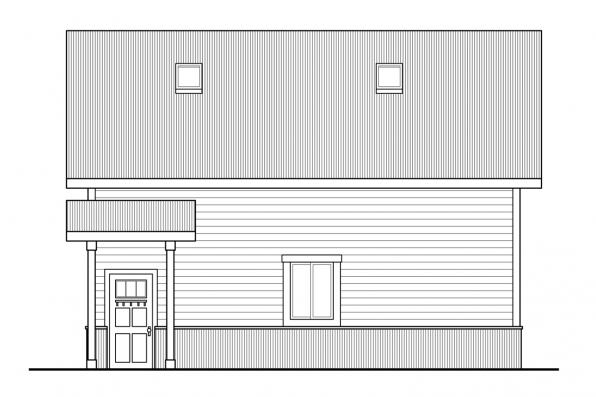 Two Car Garage Plan 20-147 - Right Elevation