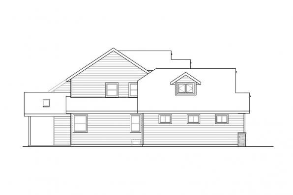 Two Story House Plan - Kinsale 31-142 - Left Elevation