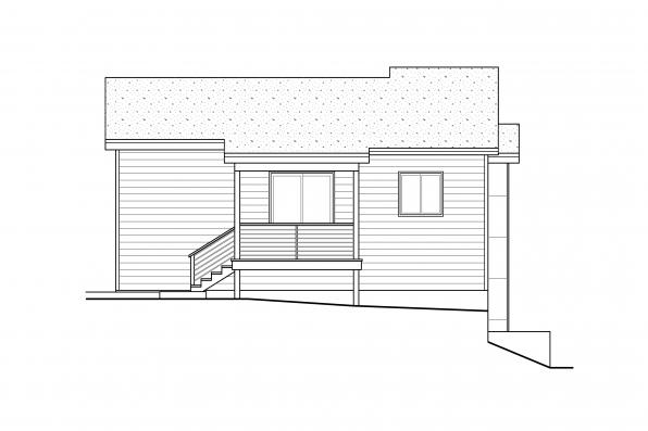 Contemporary Home Plan Sheffield 31-160 - Rear Elevation