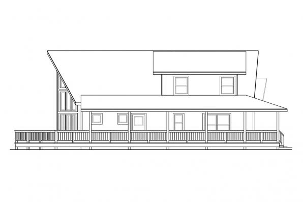 Vacation Home Plan - Gerard 30-288 - Left Elevation