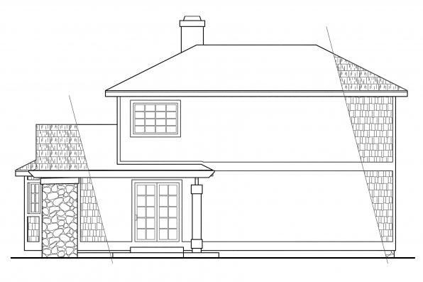 Vacation Home Plan - Lakeview 10-079 - Rear Elevation
