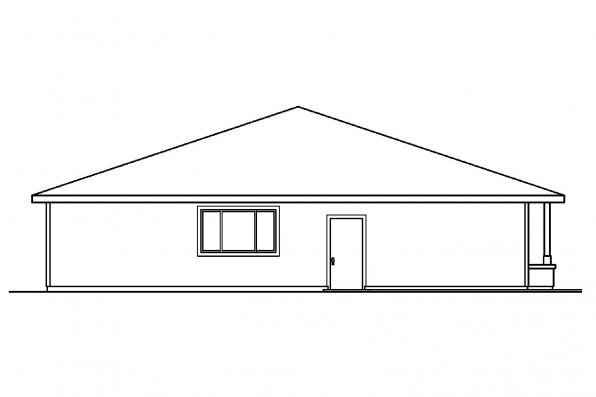 Vacation Home Plan - Tealwood 30-440 - Rear Elevation