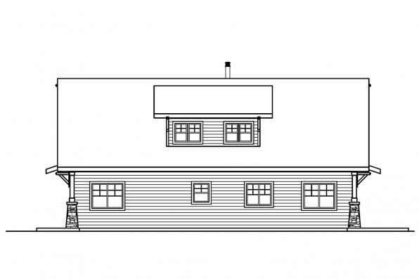 Vacation Home Plan - Dorset 30-454 - Rear Elevation