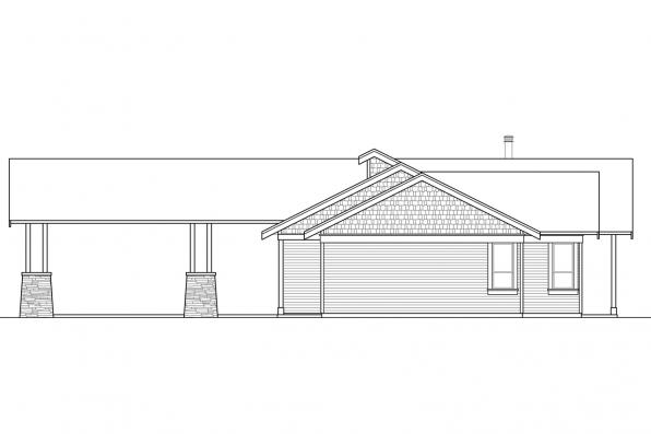 Craftsman Home Plan - Tetherow 31-019 - Right Exterior