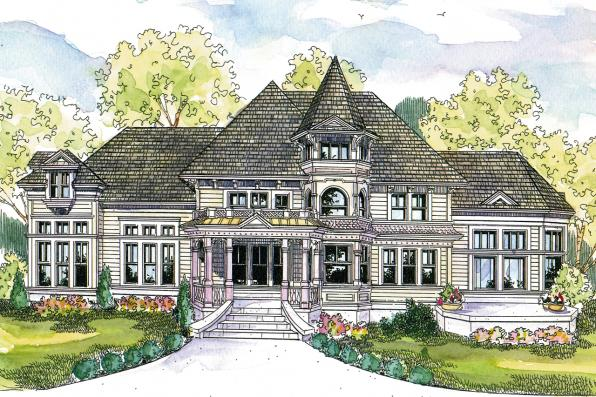 Victorian House Plan - Canterbury 30-516 - Front Elevation