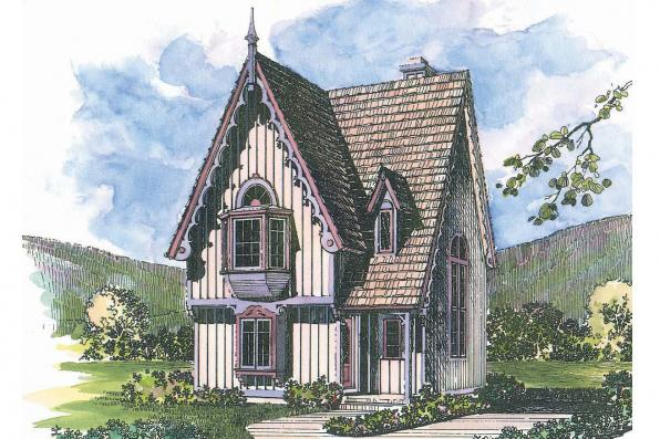 Victorian House Plan - Isabelle 42-009 - Front Elevation