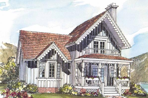 Victorian House Plan - Pearson 42-013 - Front Elevation