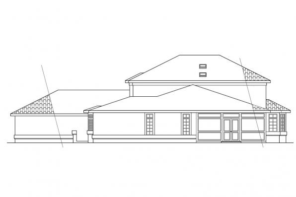 View Lot House Plan - Amherst 11-030 - Rear Elevation