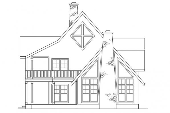 View Lot House Plan - Avondale 10-347 - Right Elevation
