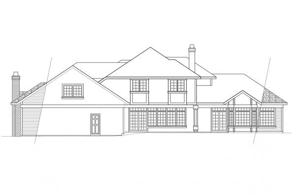 View Lot House Plan - Middleton 30-135 - Rear Elevation