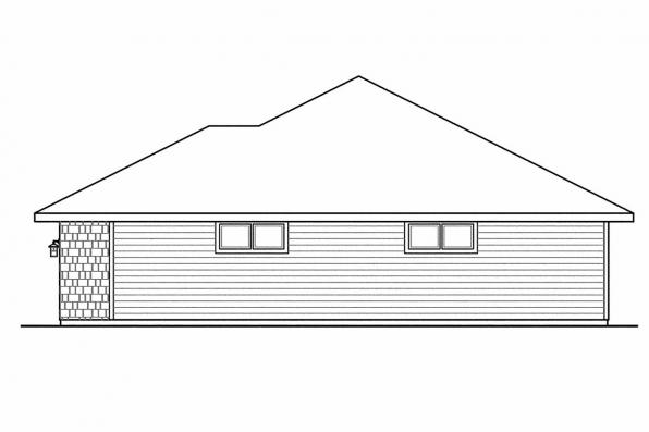 View Lot House Plan - Oakshire 30-770 - Right Elevation