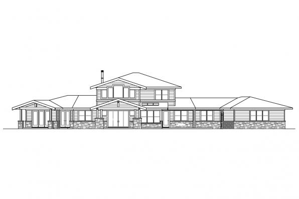 View Lot House Plan - Patagonia 31-145 - Rear Elevation
