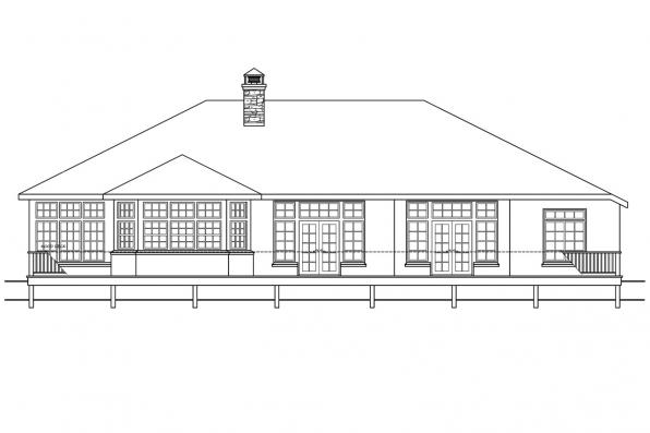 View Lot House Plan - Stevenson 10-502 - Rear Elevation