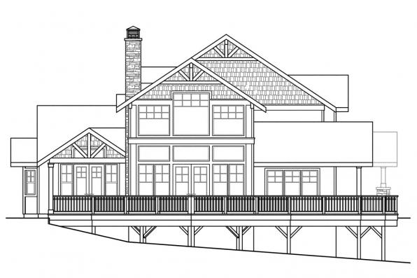 View Lot House Plan - Stratford 30-615 - Left Elevation