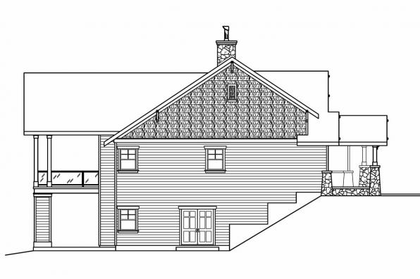Luxury House Plan - Pacifica 30-683 - Left Elevation