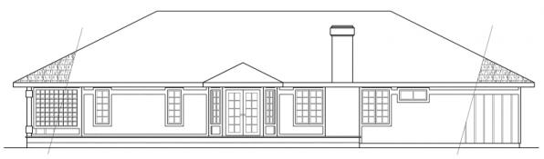 Jefferson - 10-056 - Ranch Home Plans - Rear Elevation