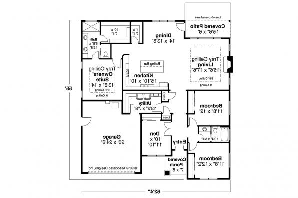 2 Car Garage Home Design - Chicory 31-169 - Floor Plan
