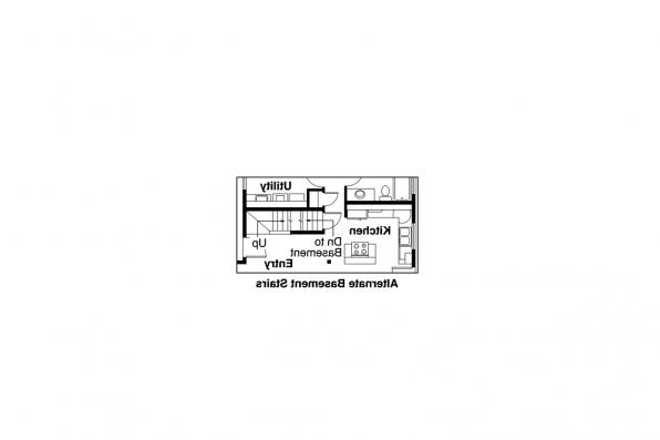 A-Frame House Plan - Gerard 30-288 - Alternate Basement Option