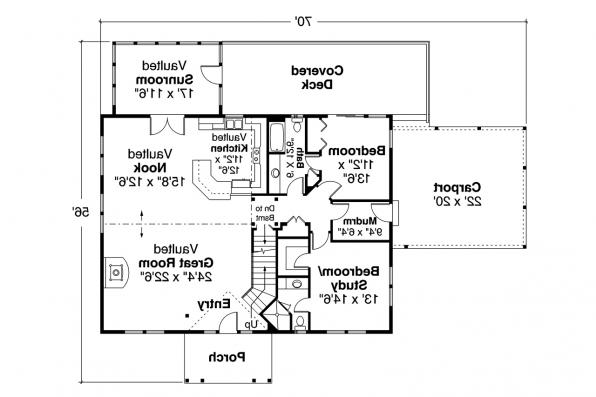 Cabin Plan - Laverne 30-744 - First Floor Plan