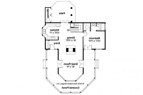 Cape Cod House Plan - Lakeview 10-079 - First Floor Plan