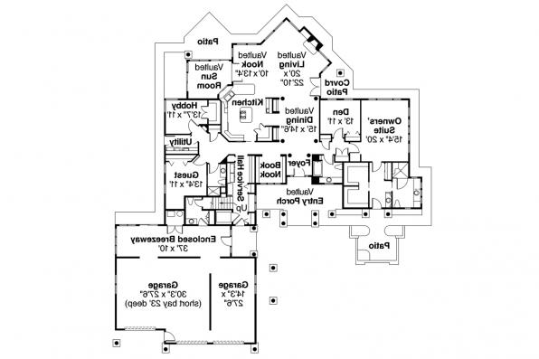 Chalet House Plan - Missoula 30-595 - First Floor Plan