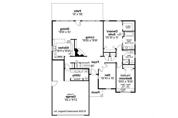 Classic House Plan - Glenbarr 30-457 - 1st Floor Plan