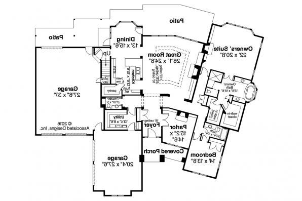 Classic House Plan - Huntsville 30-463 - 1st Floor Plan