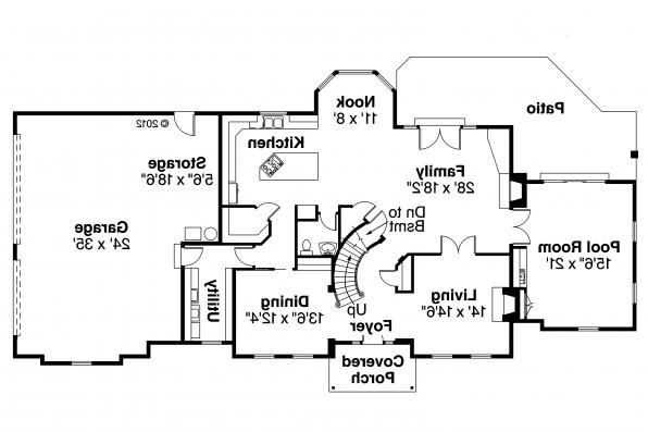 Classic House Plan - Kersley 30-041 - 1st Floor Plan