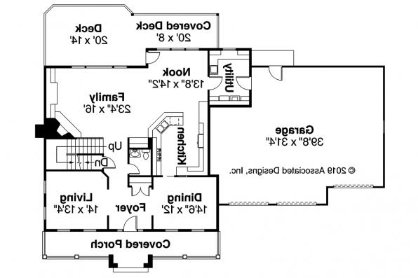 Colonial House Plan - Hanson 30-394 - 1st Floor Plan