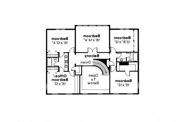 Colonial House Plan - Kearney 30-062 - 2nd Floor Plan