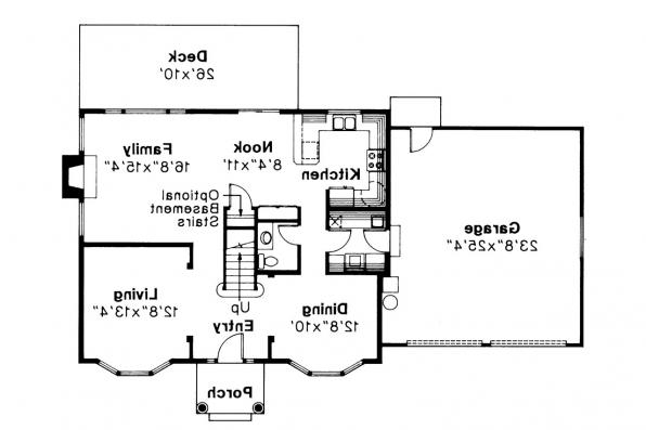 Colonial House Plan - Westport 10-155 - 1st Floor Plan
