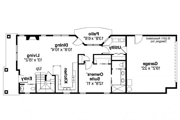 Contemporary House Plan - Montrose II 30-822 - 1st Floor Plan