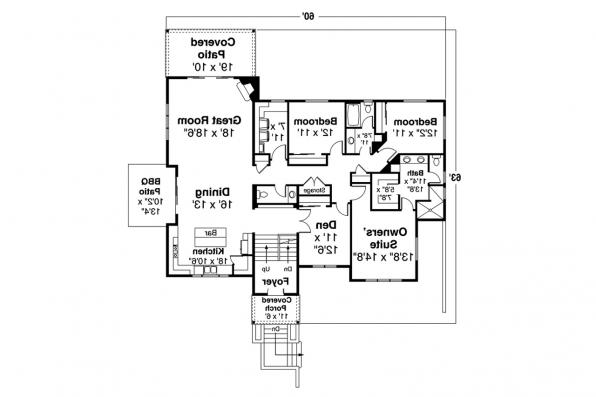 Contemporary House Plan  - Staghorn 31-168 - First Floor