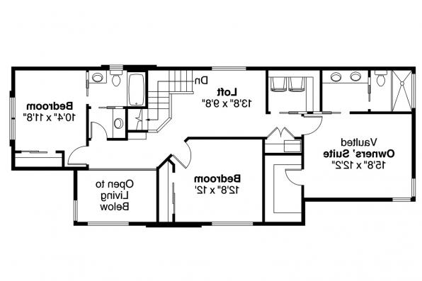 Contemporary House Plan - Alder Ridge 30-906 - 2nd Floor Plan
