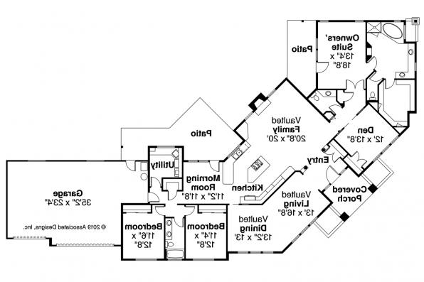 Contemporary House Plan - Hawthorne 30-054 - Floor Plan
