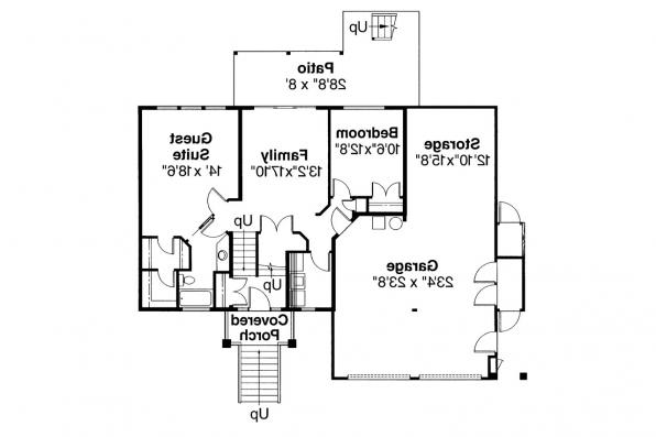 Contemporary House Plan - Matice 30-144 - Lower Floor Plan