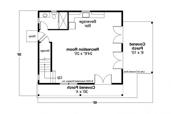 Cottage House Plan - Bayberry Cottage 31-248 - First Floor