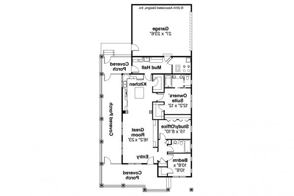 Cottage House Plan - Cadence 30-087 - Floor Plan