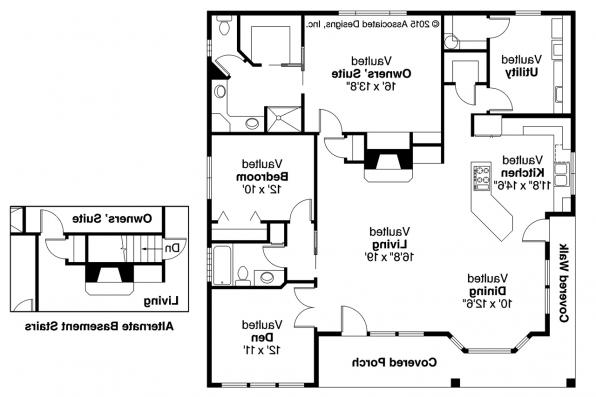 Cottage House Plan - Lincoln 30-203 - Floor Plan