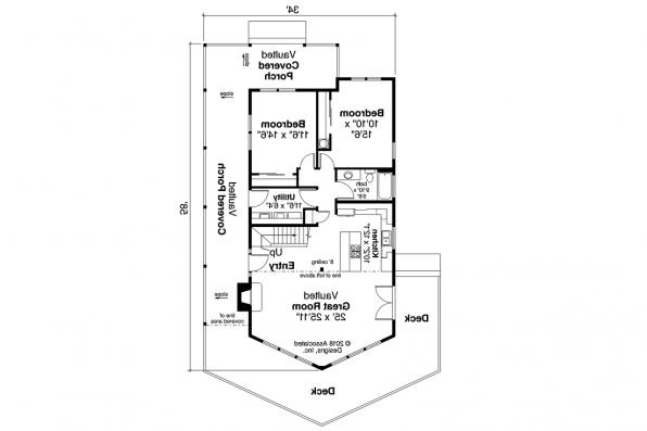 Cottage House Plan - Logsden 31-075 - First Floor