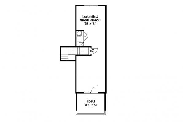 Cottage House Plan - Lyndon 30-769 - Bonus Room Floor Plan