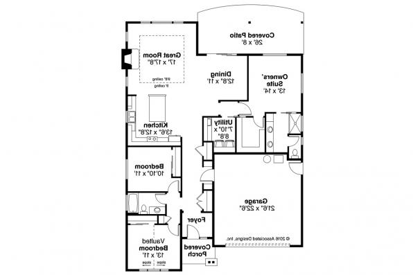 Cottage House Plan - Manzanita 31-073 - Floor Plan