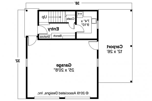 Garage Plan 20-111 - First Floor Plan