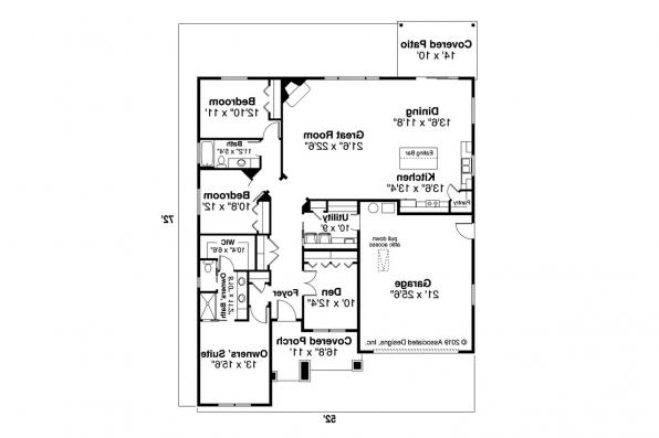 Craftsman House Design Aster 31-161 - Floor Plan